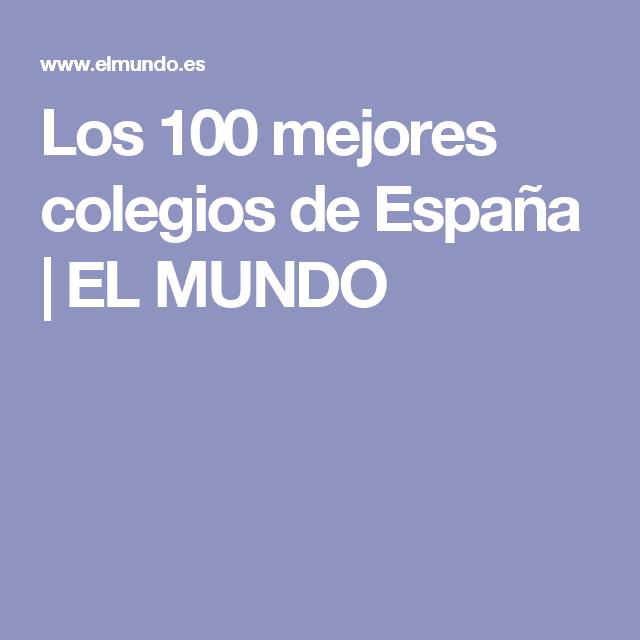 Entre los mejores colegios de España