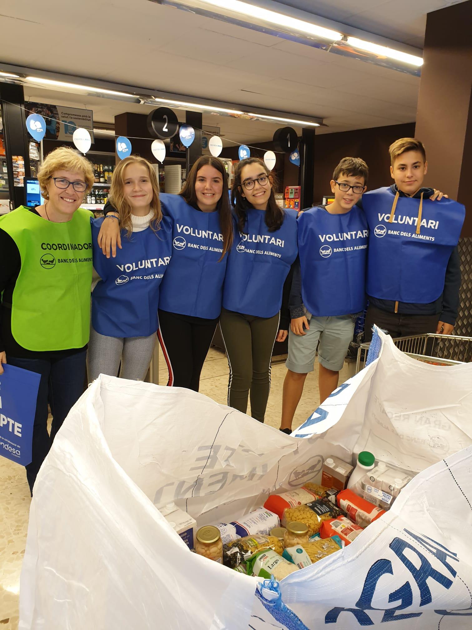 El colegio Claret de Barcelona se implica en la campaña de recogida de alimentos Gran Recapte
