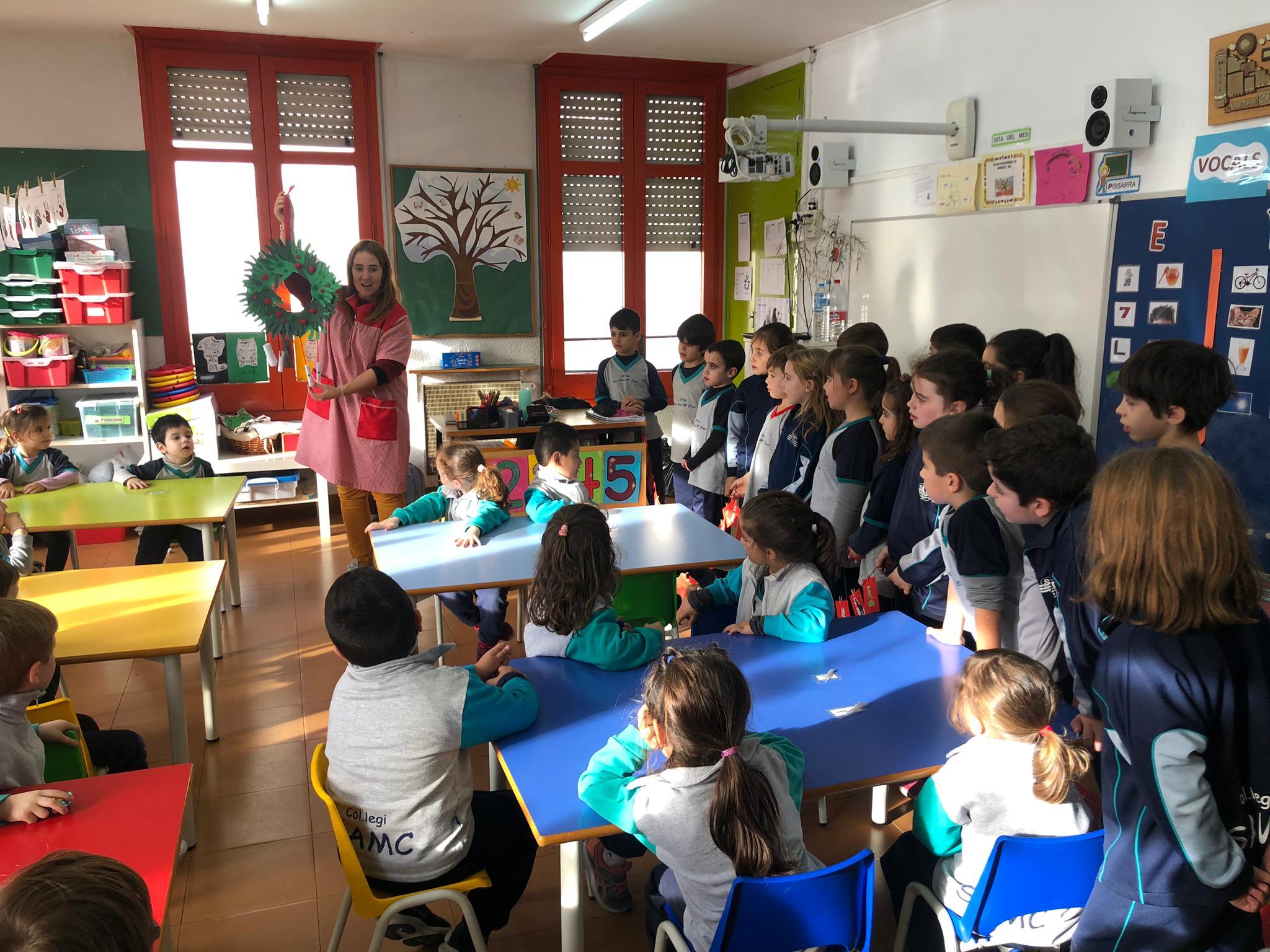 En el colegio SAMC Cornellà se prepararon para iniciar el Adviento
