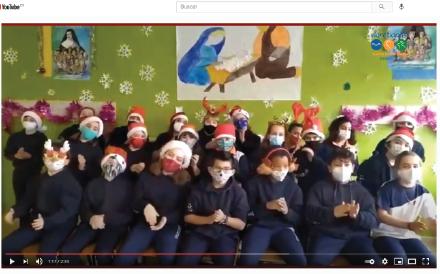 Felicitación navideña de los alumnos de nuestro Colegio de Zaragoza