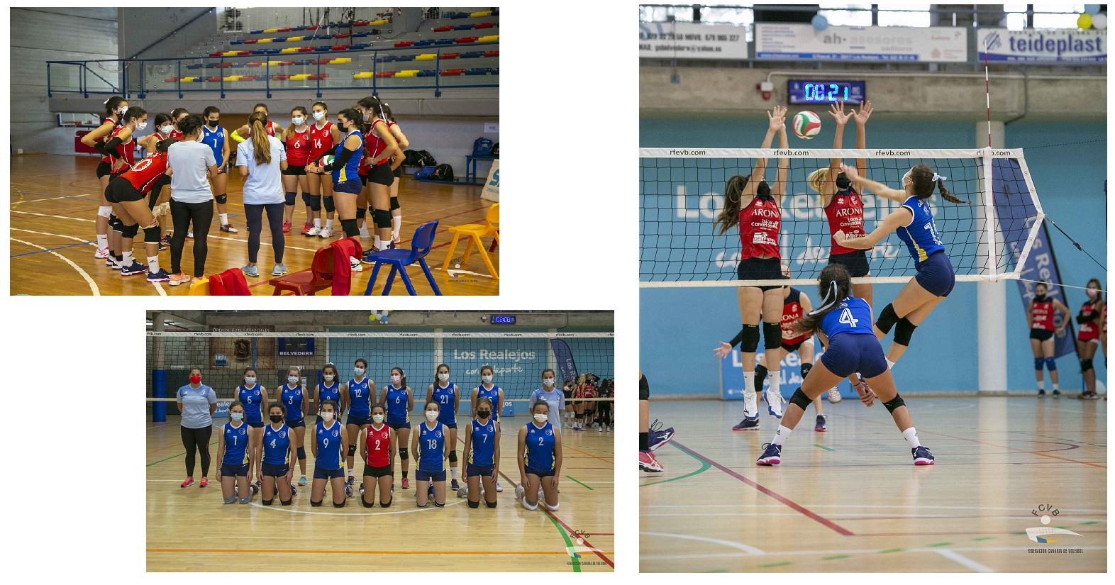 Compitiendo de nuevo en voleibol en nuestro Colegio de Las Palmas