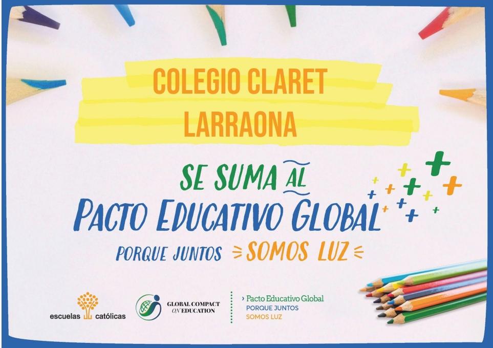 Nuestro Colegio Claret Larraona se suma al Pacto Educativo Global